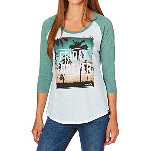 Hurley Long Sleeve T-Shirts - Hurley Friday Forever Raglan Top - Green