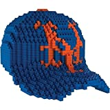 Forever Collectibles Mlb New York Mets 3D Brxlz Baseball Cap Building Blocks, Multicolor, 10.25