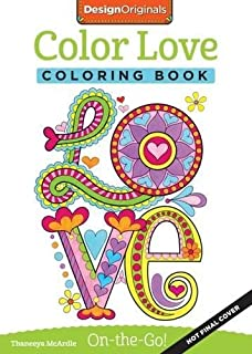 Color Love Coloring Book Perfectly Portable Pages On The Go