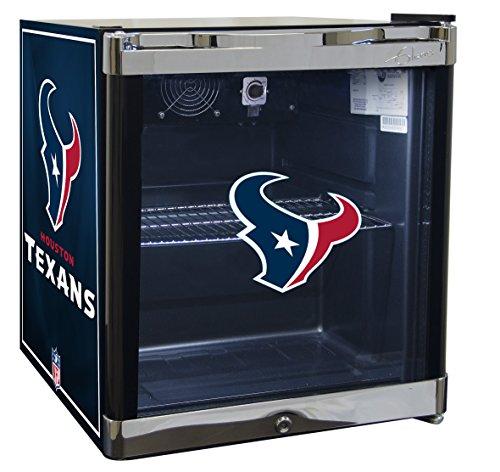 GLAROS Officially Licensed NFL Beverage Center/Refrigerator (Houston Texans)