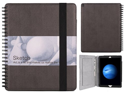 iPad pro case,Sketchbook wire-bound iPad pro case full prote