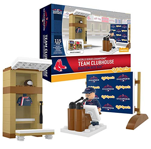Red Sox OYO Sports Toys Clubhouse Locker Room Champions Set with Minifigure ()