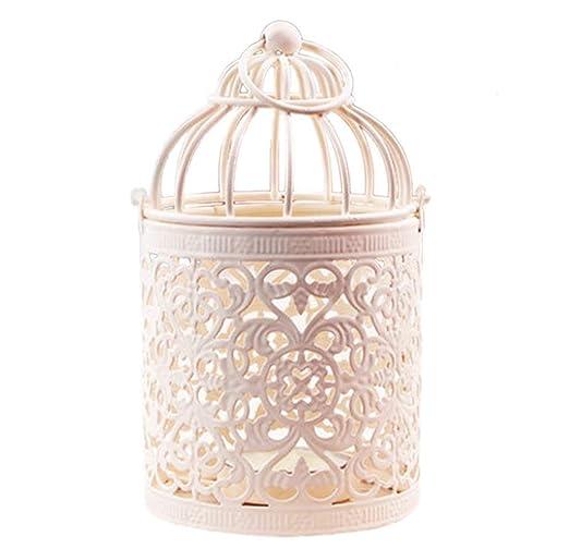 WeiMay - Farolillo portavelas con forma de jaula para pájaros ...