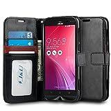 Asus Zenfone Zoom Case, J&D [Wallet Stand] Zenfone Zoom Wallet Case Heavy Duty Protective Shock Resistant Case Zenfone Zoom - Black
