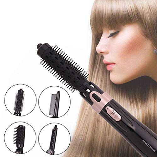 (ZG-SZ Hot Air Brush Hair Dryer Curly Hair Comb 4 in 1 with Straightening Curling Fast Drying Using Negative Ion to Protect Hair and Ski for Home and Salon Present Volumizer)