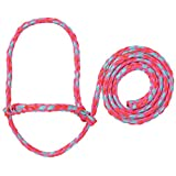 Weaver Leather Livestock Poly Rope Sheep Halter, Hot Pink/Coral/Mint