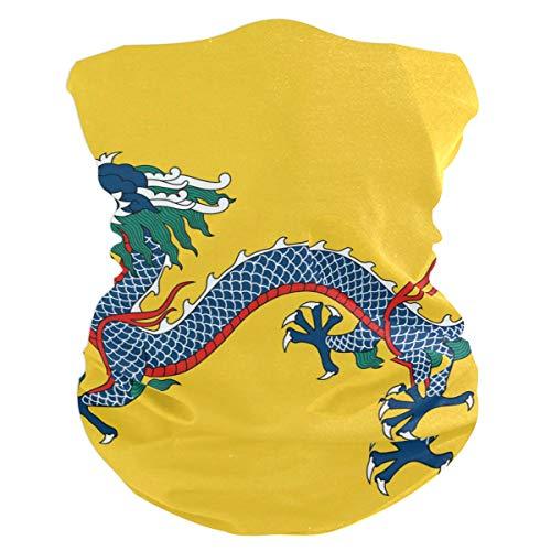 Pingshoes Imperial China Flag Balaclava Womens Headband Scarf Mens Versatile Bandana, Muffler, Neck Gaiter, Magic, Facemask Neckerchief