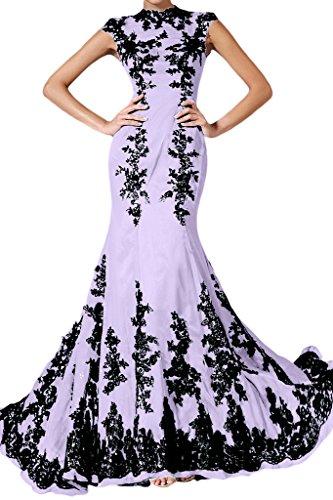 Chiffon Elegant Lang Festkleid Ivydressing Abendkleid Mermaid Lila Damen Spitze Applikation xOYaxqvw5