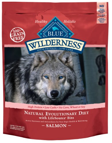 Blue Buffalo Wilderness Grain Free Dry Dog Food, Salmon Recipe, 11-Pound Bag