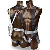 """KSEIBI 421020 Safety Fall Protection Kit, Full Body Harness, with 6"""" Lanyard Standerd size -up to 42"""" waist and bag"""