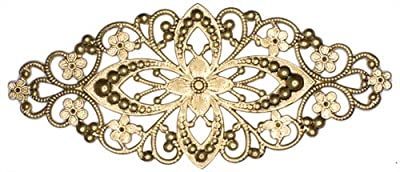 Dove of the East 2-Piece Diamond Shape Filigree Metal Embellishment