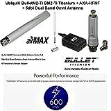 Ubiquiti BulletM2-Ti BM2-Ti Titanium + AXA-NFNF + 5dbi Dual Band Omni Antenna