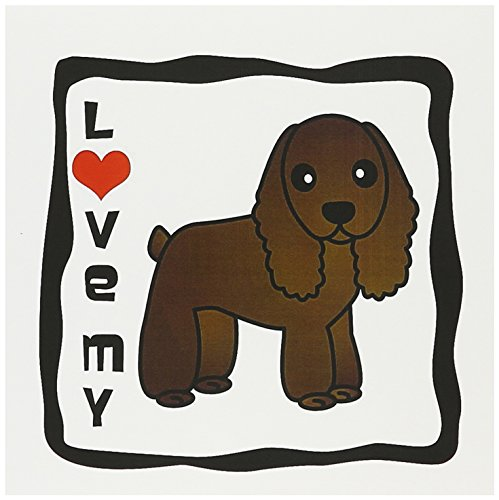 3dRose Love My Cocker Spaniel Chocolate - Greeting Cards, 6 x 6 inches, set of 6 (gc_15362_1)
