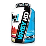 BPI Sports Whey Hd Ultra Premium Protein Powder, Strawberry Cake, 4.1 Pound