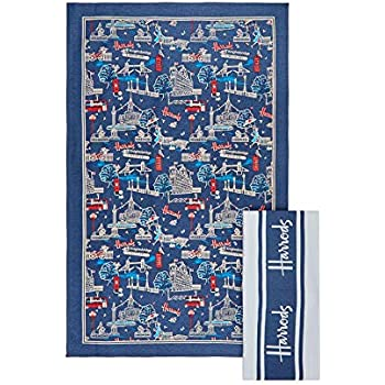 Harrods Tea towel set 2 BNWT many new designs added
