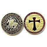 Knights Templar Cross Masonic Mason Gold Coin