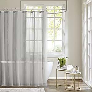 Madison park anna sheer shower curtain grey - Anna s linens bathroom accessories ...