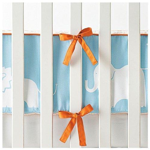 Serena Lily Baby - Serena & Lily Ben Crib Bumper- Aqua/Orange
