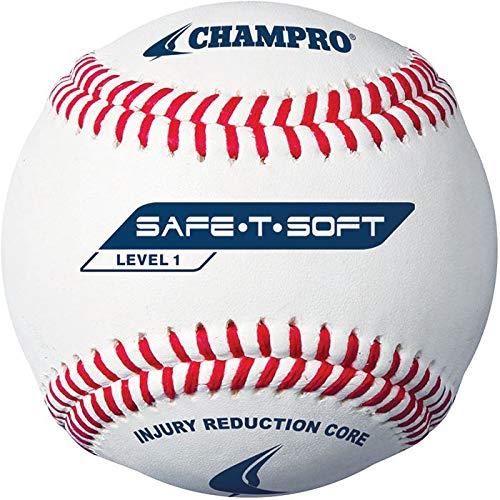 Champro Safe-T-Flight Baseball (White, 9-Inch)Pack of -