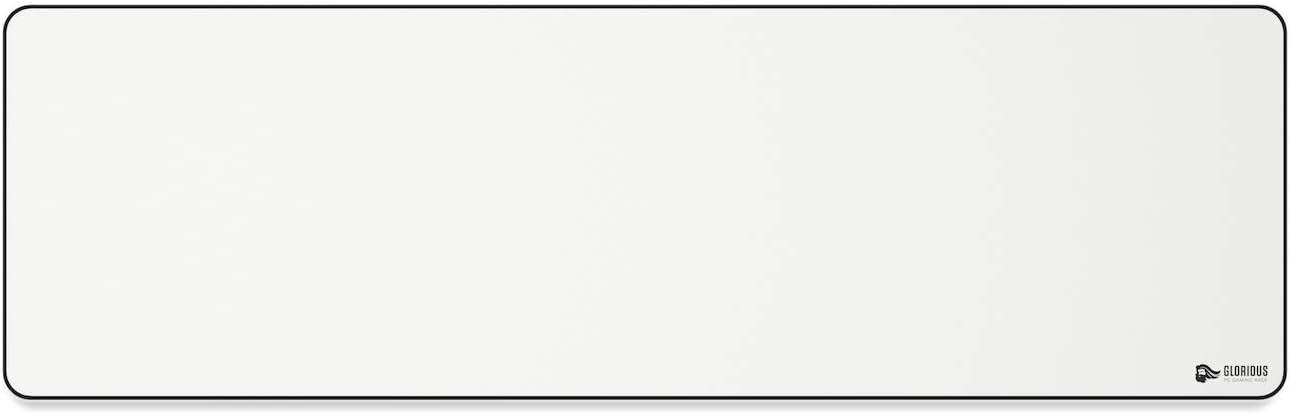 Glorioso PC del Juego de Carreras GW-E Blanco de Mousepad