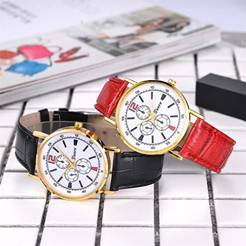 XBKPLO Watches Fashion High-end Blue Glass Temperament Ladies Fine Quartz Analog Wrist Watch Leather Strap Bracelet Jewelry Gift by XBKPLO (Image #2)