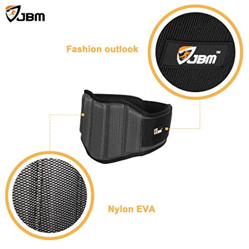 JBM Weight Lifting Belt 3 Size Gym, Fitness, Crossfit, Bodybuilding Workout Belt Olympic Lifting Wraps Weighted Dip Belt for Squats Lunges Deadlift Thrusters, Adjustable with buckle