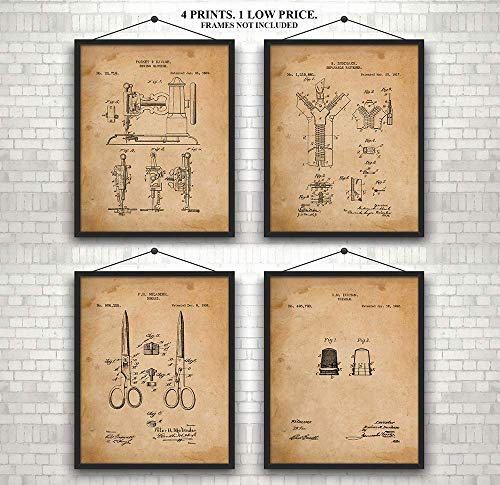 Original Sewing Patent Art Prints -Art Wall Decor - Gift for Women, Men, Studio, Designers, Shop, Craft Room from Red Horse Designs