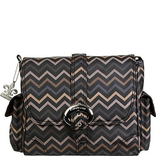 - Kalencom Midi Coated Buckle Bag (Mini Chevron Sahara) by Kalencom