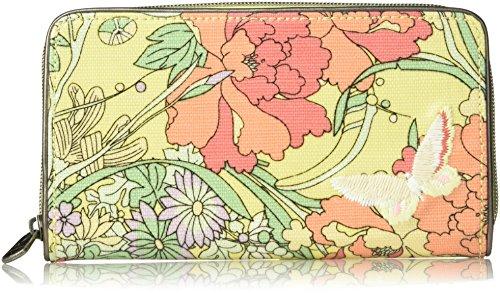 Sakroots Large Zip Around Wallet, Sunlight Flower (Large Zip Wallet)