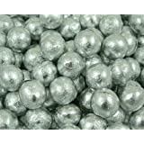 Luxury Solid Milk Chocolate Silver Foiled Balls (500g bag) (pack of 105)