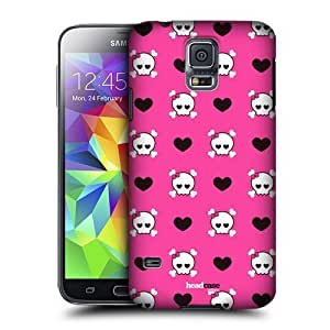 AIYAYA Samsung Case Designs Skulls and Hearts Sugar and Spice Protective Snap-on Hard Back Case Cover for Samsung Galaxy S5