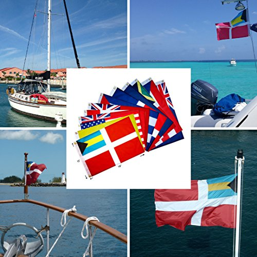 Blue Marble Marine Set of 12 Courtesy and Quarantine Flags for US, Canada, Bermuda, Bahamas and Greater Antilles. 12 X 18 inches, UV fade-resistant. by Blue Marble Marine (Image #4)