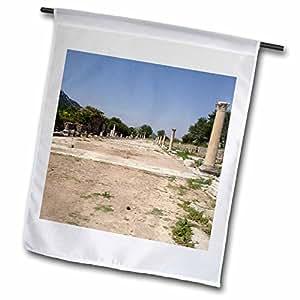 Taiche - Photography - Ephesus - Arcadian Street - archaeology, architecture, ephesus, marble, marble slabs, columnades - 18 x 27 inch Garden Flag (fl_51703_2)