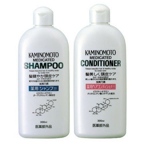 Kaminomoto Japan Medicated Scalp Hair Growth B&p Shampoo & Conditioner 300ml