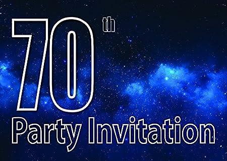 10 70th Temática Invitaciones Fiesta Cumpleaños Invitaciones ...