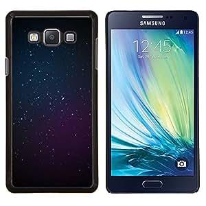 KLONGSHOP // Cubierta de piel con cierre a presión Shell trasero duro de goma Protección Caso - cosmos púrpura azules estrellas del espacio profundo - Samsung Galaxy A7 A7000 //