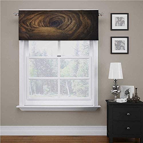 Interestlee Cave Custom Valance Ancient Geologic Formation in Digital Painting Style Subterranean Tunnela Gate for Kids Room/Baby Nursery/Dormitory Pale Brown 54 x 18