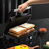 Electric Panini Press Indoor Grill Sandwich