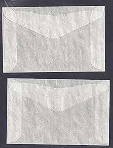 "100 #2 Glassine Envelopes measuring 2 5/16"" x 3 5/8"""