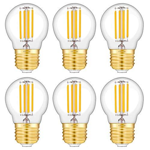 - CRLight 4W Dimmable LED Globe Bulb 4W 2700K Warm White 400LM, 40W Equivalent E26 Medium Base LED Filament Bulbs, G45 Clear Glass Globe Shape, 6 Pack