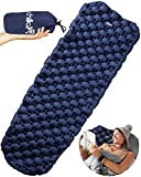 #4: Chillax Ultralight Air Sleeping Pad – Inflatable Camping Mat for Backpacking, Traveling and Hiking – Super Comfortable Air Cells Design for Better Stability & Support – Tested 2.1 R-Value
