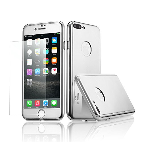 Armor Silicone Hybrid Shockproof Back Case PC Bumper For iPhone 7 Plus (Silver) - 9