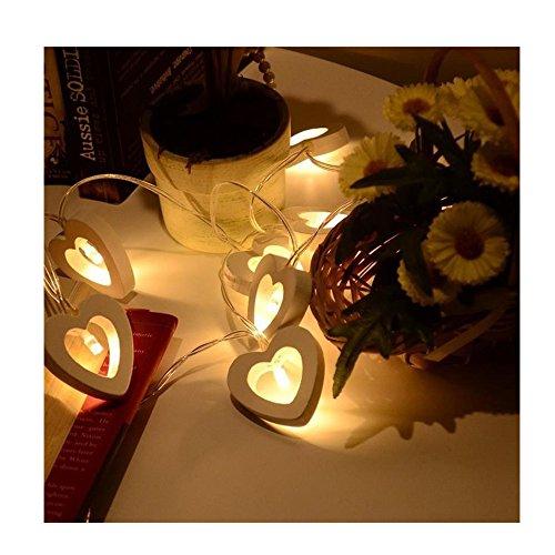 Wooden Heart Led Lights - 5