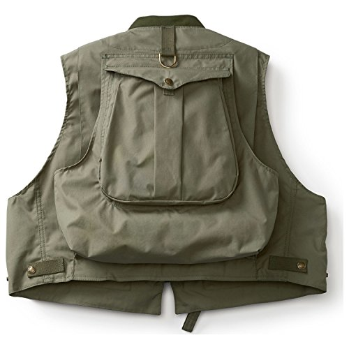 Filson Cover Cloth Fly Fishing Guide Vest (X-Large, Green)