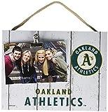 "KH Sports Fan 10""x8"" Oakland Athletics Clip It Weathered Logo Photo Frame, 10"" x 8"""
