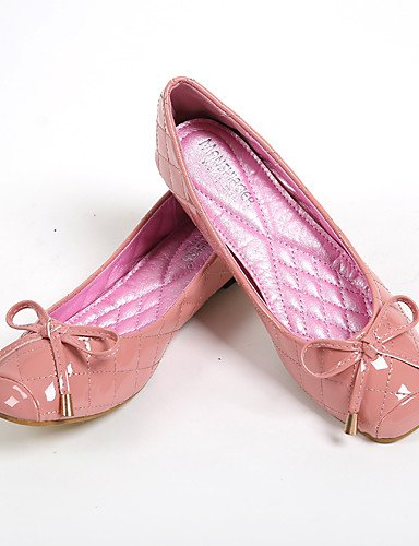 PDX/ Damenschuhe-Ballerinas-Lässig-Kunstleder-Flacher Absatz-Komfort / Rundeschuh-Rosa pink-us6 / eu36 / uk4 / cn36