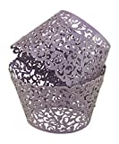 Leegoal Muffin Case Cupcake Papper Cup Liner Birthday Wedding Cake Wrapper (108pcs,White) (Lavender)