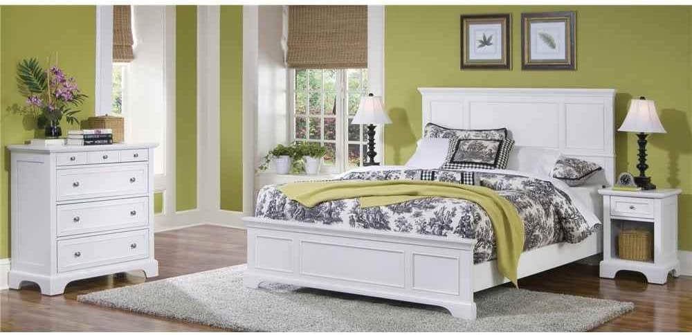 Naples White Queen Bed, Night Stand & Chest by Home Styles