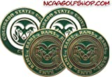 (4) Colorado State Rams Golf Ball Markers