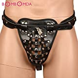 Skuleer - Adult Games Sexy Chastity Harness Fixed Penis Male Chastity Device Belt Penis Sleeve Cock Cage Sex Panty with Cock Ring O3